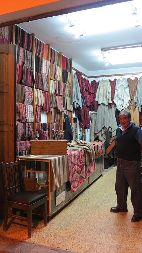Peru Cuzco textiles shop weaving