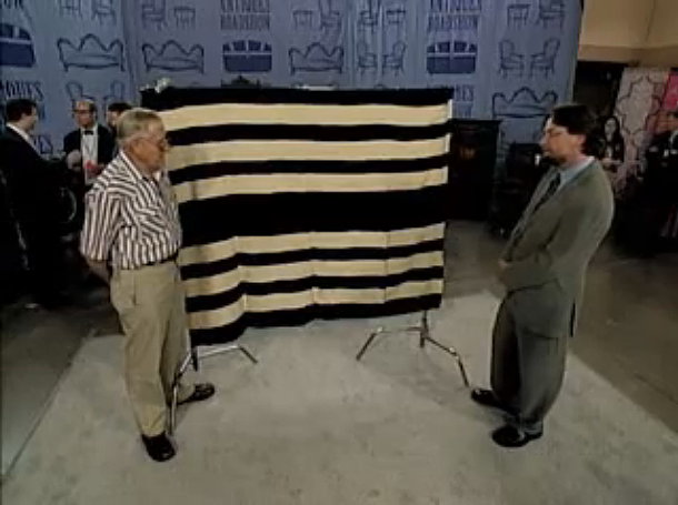 Navajo First Phase Ute chief's blanket on Antiques Road Show