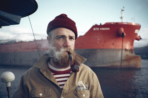 hipster sea captain
