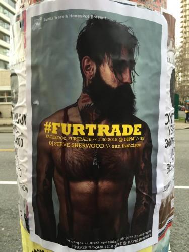 Fur trade beard - heritage hipster poster