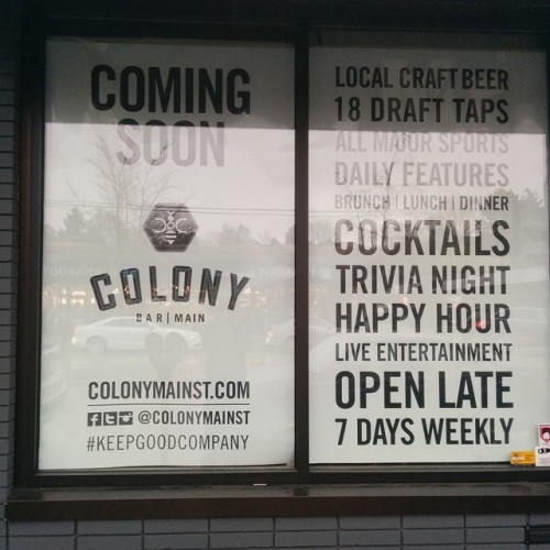 Colony, bar on Main Street