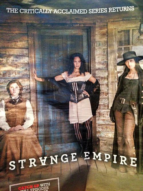 Strange Empire TV show prostitute schoolmarm Annie Oakey