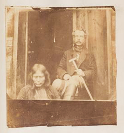 Early BC photos, First Nations man, white man
