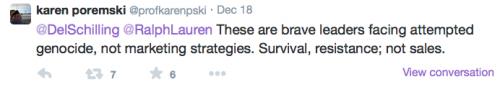 Ralph Lauren campaign - genocide