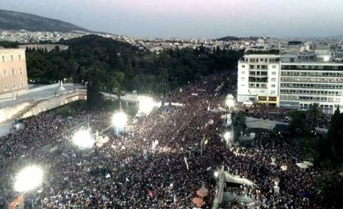 Syntagma Oxi No Crowd