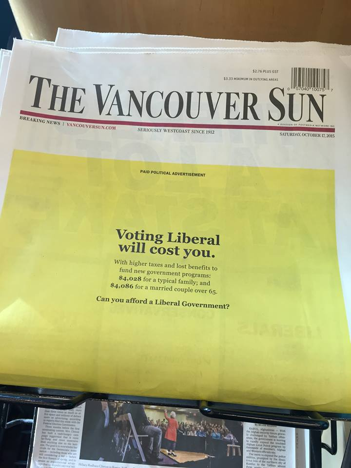 Vancouver Sun endorsement of Stephen Harper