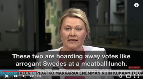 Swedes at a meatball lunch