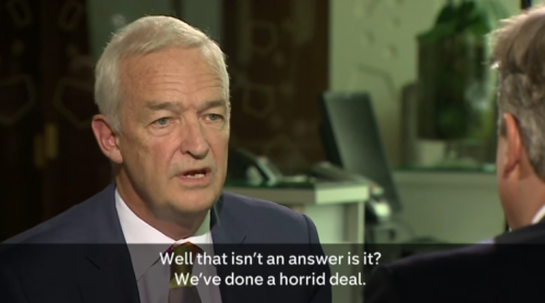 Jon Snow and David Cameron on Saudia Arabia